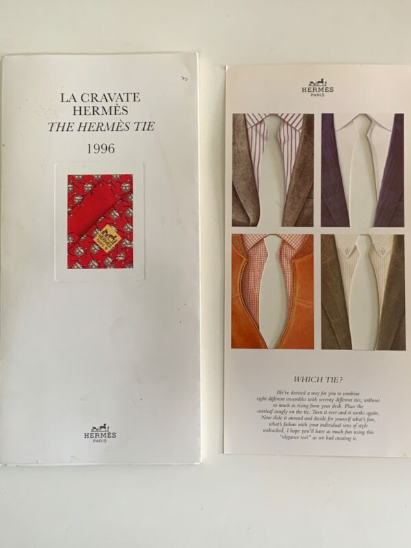 Vintage La Cravate Hermes / The Hermes Tie 1996 Tie Collection Catalog & Overlay