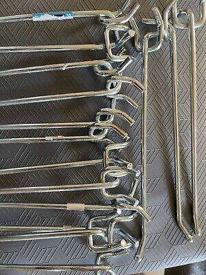 Used Peg Hooks 10 Pc. 8 Inch Pegboard Hooks Peg Board