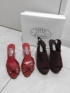 2 x Womens Steve Madden Shoes Heels Wedges size 6 Strathfield Strathfield Area Preview