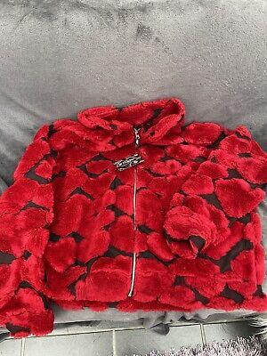 Jaded London Fleece Red Heart Jacket