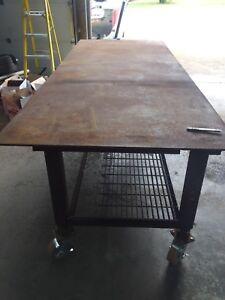 Steel fab table