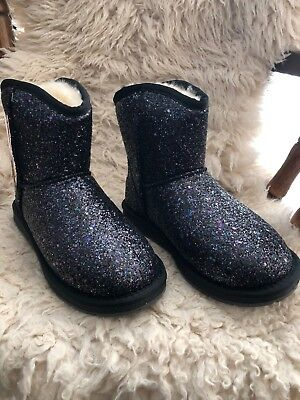 Stock Clearance . women's Ugg Boots  metallic black ,US size 6 (Uggs Shoes Clearance)