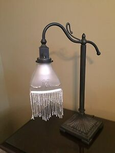 Striking Table Lamp & Solid Brass Candle holder - moving sale!