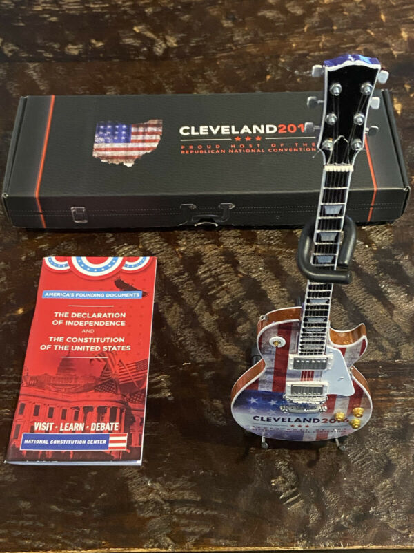TRUMP! 2016 Republican National Convention RNC Cleveland R&R Miniature Guitar
