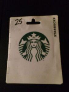 Unused 25gift card- Starbucks