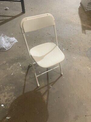 Wedding White Folding Chairs Used Metal Plastic