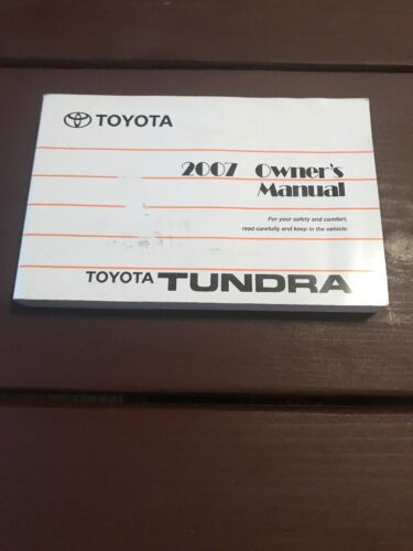 2007 Toyota Tundra Owners Manual OEM Free Shipping