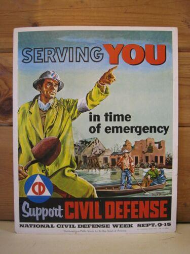 Original 1956 Civil Defense Boy Scout Poster B1556