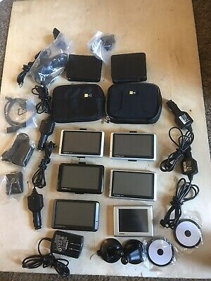 Lot of 6 Garmin nuvis GPS 1300 205W 1390 350 NA & Xtras all tested