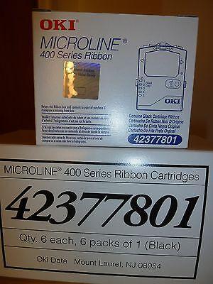 Okidata 42377801 Qty.-6- Microline ML420 421 490 491 Ribbon Box Qty
