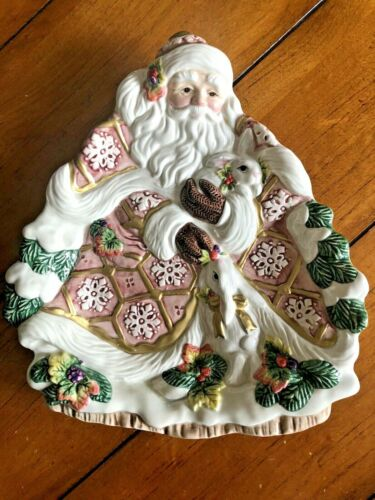 Christmas Fitz And Floyd Classics Snowy Woods Wall Display Plate