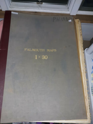 MASSACHUSETTS, BARNSTABLE COUNTY, 1927 FALMOUTH INDEX PLAN  MAP BOOKS 1 AND 2