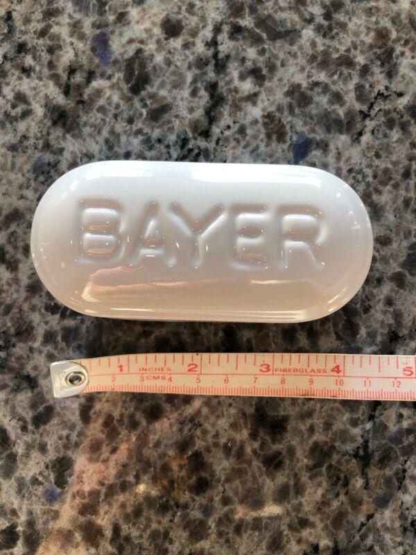 Bayer Promotional Giant Aspirin Porcelain Tablet Pill Paperweight