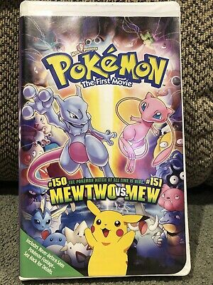 Pokemon The First Movie VHS Tape Mewtwo vs Mew