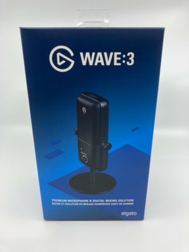 Elgato - Wave:3 Wired Cardioid Condenser USB Microphone IN HAND SHIPS TODAY!