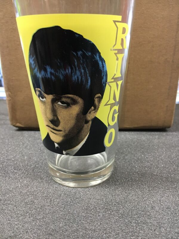 The Beatles Ringo Star Glass Drinking Cup 14 Ounce