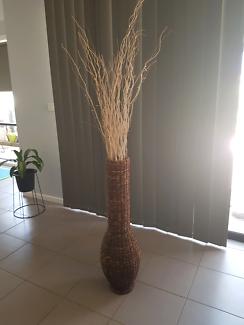 Large wicker vase