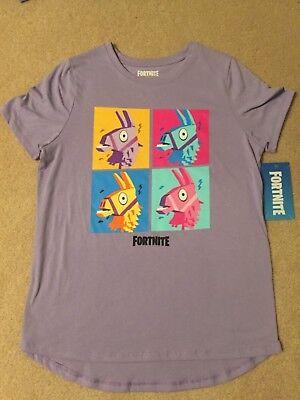 FORTNITE dance LOOT llama BRITE Bomber VIDEO Game EG Women's JUNIORS New t-Shirt