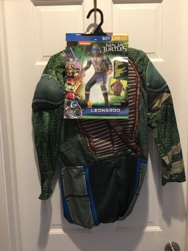 New Halloween Boy 10-12 Ninja Turtles Leonardo Costume~ship free