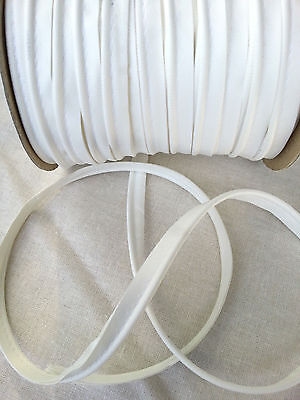 2 Meters Faux Leather White Insertion Flanged Rope Piping Upholster 8mm Wide