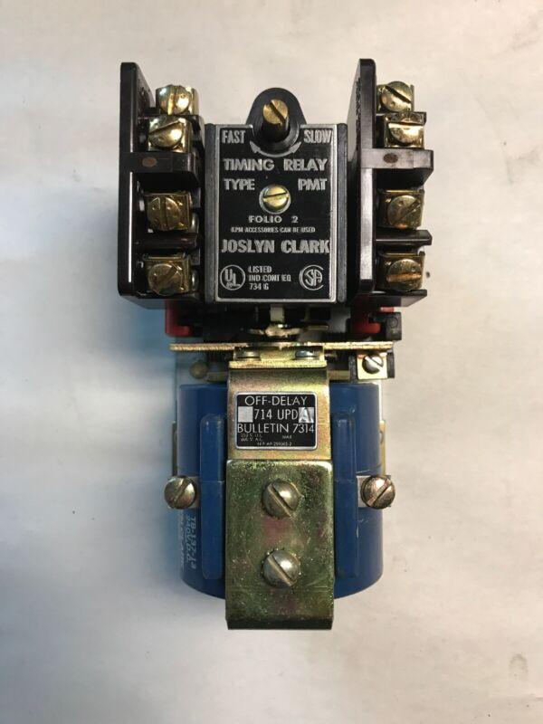 Joslyn Clark 714UPDA 240 VDC Timing Relay