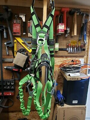 Miller Safety Construction Harness Wback Support And Stretchstop Lanyard