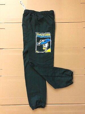 SCRAM SKATES - FEJJ SWEATPANT BOTTOMS GREEN - S M L - SKATEBOARD PUNK 80S (80s Punk Style Clothing)