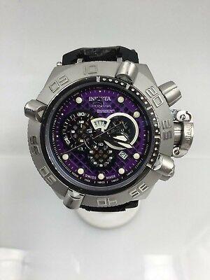 Invicta 10978 Subaqua Noma IV Chronograph Purple Cut-Out Dial w/ Black Band