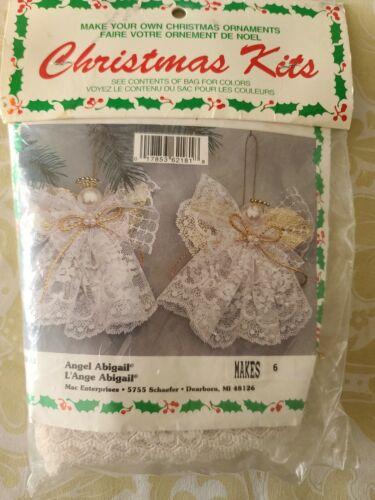 Merri Mac Christmas Craft Kit Angel Abigail Makes 6 Unopened