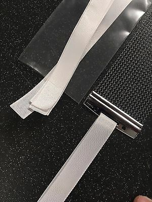 6 x Snare Wire Straps Ribbon String Cord Snare Drum Wires WHITE high quality
