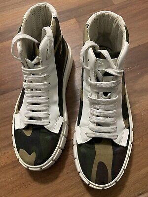 Primury Dyo Camoflauge Print High Top Canvas Trainers Sz40