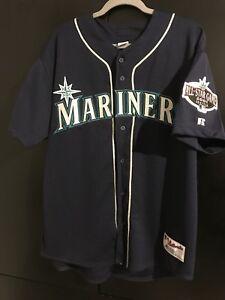 Ichiro Suzuki Seattle Mariners Jersey Vintage Throwback Medium 40 Russell