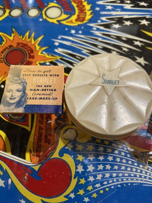 VINTAGE Starlet 1940's Pan-cake Creamed Makeup Collectible Rachel