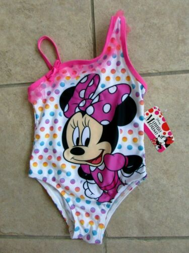 Disney Minnie Mouse Girls One Piece Swimsuit Size 4T NWT