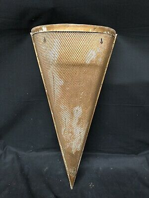 Antique  Art Noveau Flower wall Holder Sconce. Unusual screened Triangular Style
