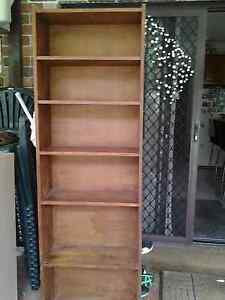 Tall wooden bookcase 1870 high x 60 cm wide x 24 cm deep Normanhurst Hornsby Area Preview