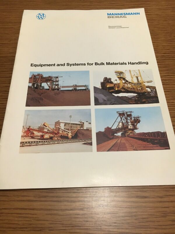 Vintage Mannesmann Demag Equipment And Systems For Bulk Materials Handling