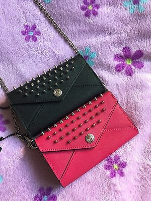 NWT Rebecca Minkoff Wallet on a Chain Studded Crossbody Clutch Saffaino (Rebecca Minkoff Studded Wallet On A Chain)