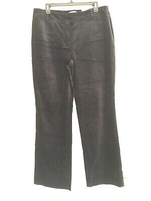 Ann Taylor Loft 12 Womens Pants Ann Black Velvet Boot Leg Stretch New