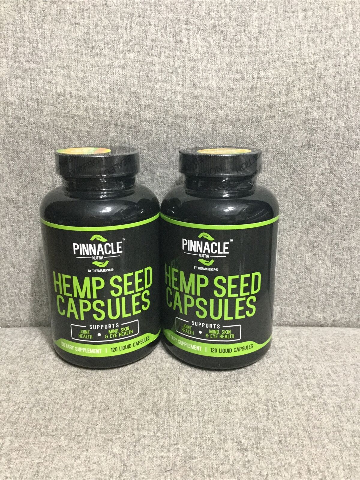 2 X 60 Servings Hemp Seed Oil 1000mg Per Serving, Non GMO, Liquid Capsules 2021