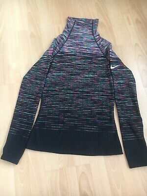 Ladies Nike Pro Hyperwarm Long Sleeve High Neck Top. UK Small