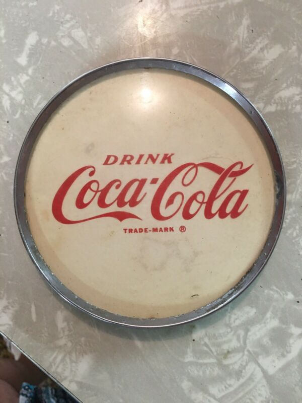 "Vintage Coca Cola Soda Fountain Drugstore Dispenser Advertising Emblem 5"""