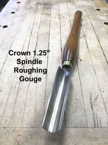 """Crown HSS 1 1/4"""" Spindle roughing gouge Chisel Woodturning Wood Lathe chise"""