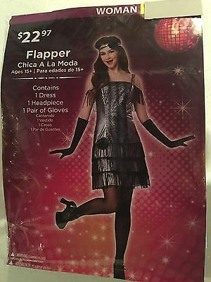 Halloween Costume Woman Black Flapper Small, Medium, or Large](Womens Black Halloween Costumes)