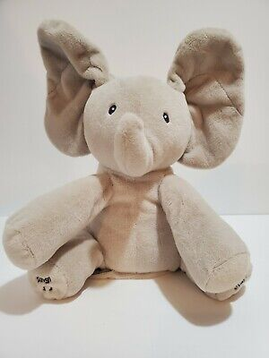 GUND Baby EUC Animated Flappy The Elephant Stuffed Animal Plush Gray GREAT GIFT!