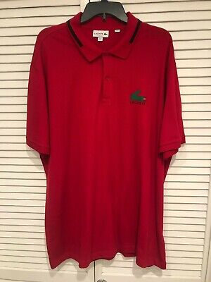 Mens Authentic Lacoste Red Short Sleeve Slim Fit Polo Shirt (4XL) Lacoste 9 $98