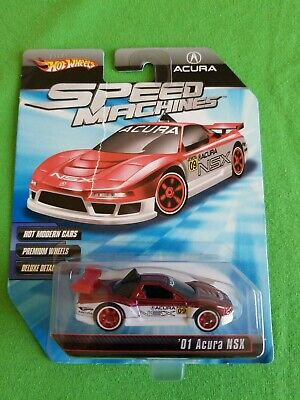 2010 Hot Wheels Speed Machines 01 ACURA NSX Red & White RIPPED CARD