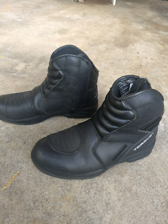 Torque leather motorcycle boots