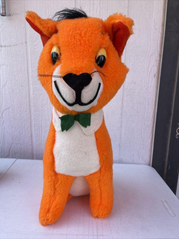 "Vintage 1964 Disney CAT Oliver and Company  Plush Orange Stuffed Animal 22"" RARE"