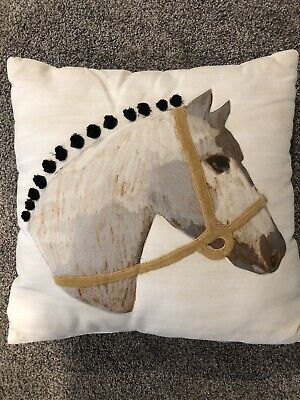 Crate & Barrel Land of Nod Decorative Pillow Horse Pony Toss Or Throw Pillow